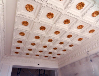 Intonaco termoisolante soffitto cassettoni polistirolo
